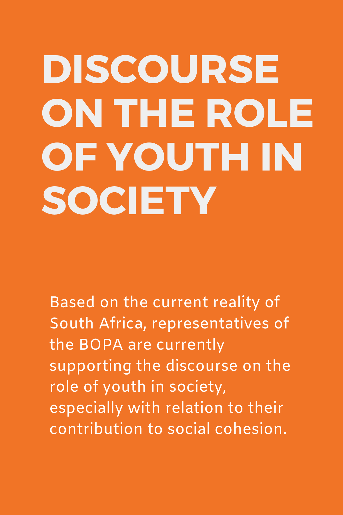 Discourse on the role of Youth in Society (1)